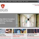 Aegis Fire Doors website