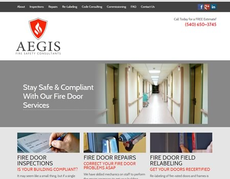 Aegis Fire Doors website